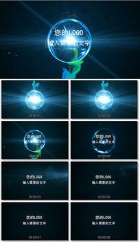 会声会影能量球爆炸logo视频模板
