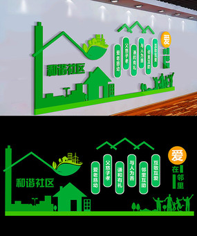 绿色和谐社区文化墙