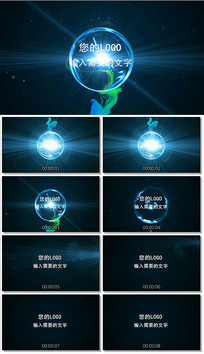 pr能量球爆炸logo演绎视频模板