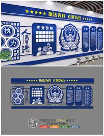 警察公安文化墙展板设计