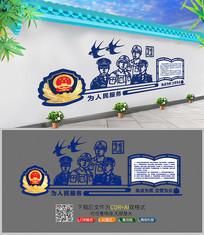警徽警室宣传展板文化墙设计