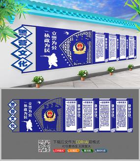 警营户外文化墙创意设计展板