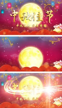 八月十五中秋节喜庆AE模板