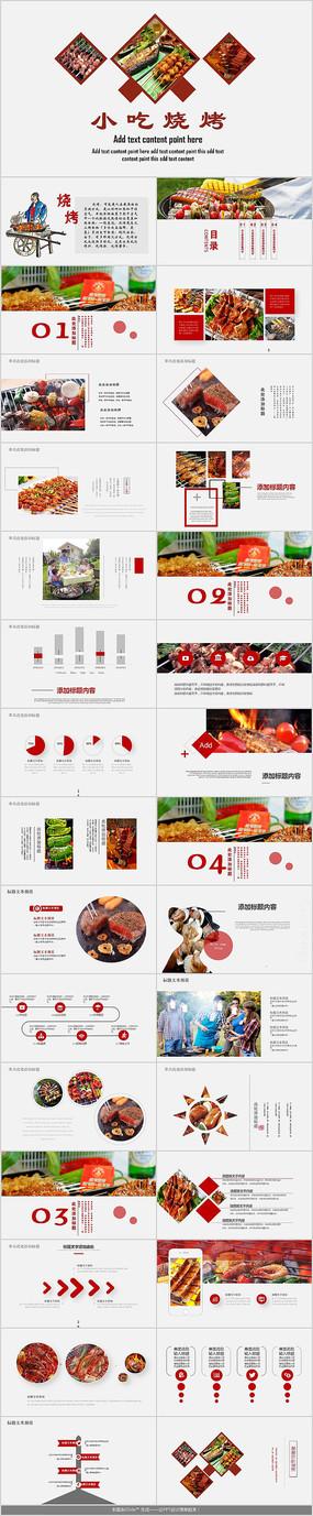 创意烤肉PPT模板