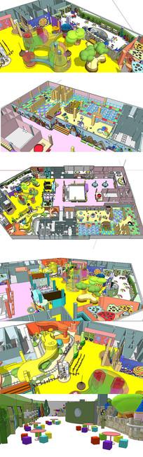 儿童娱乐休闲中心SU模型