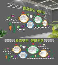 企业校园食堂文化墙