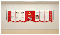 社区党员之家党建文化墙展板