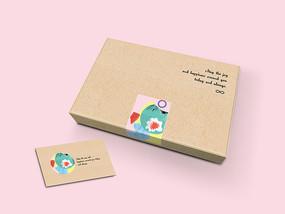文艺蛋挞包装盒