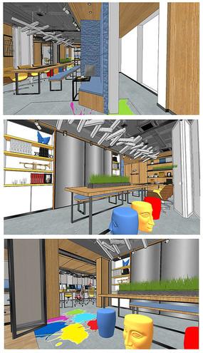 小型办公室模型