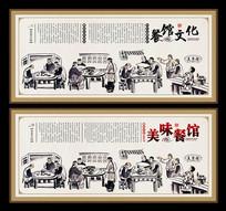 餐馆文化展板