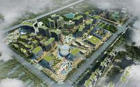 绿化城市建筑PSD鸟瞰效果图 PSD