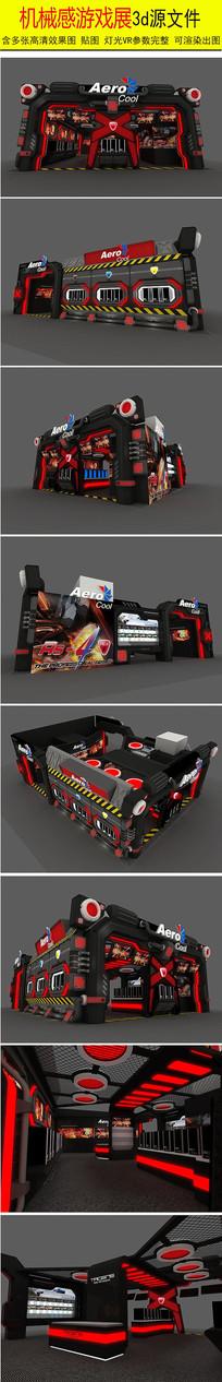 游戏展厅3d模型