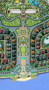主题公园手绘平面效果图
