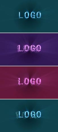 炫彩水晶文字LOGO模板