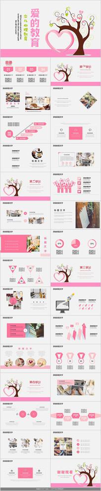 粉色教育培训课件PPT模板