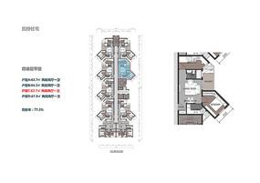 高层住宅小户型彩平图
