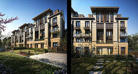 高档住宅小区建筑效果