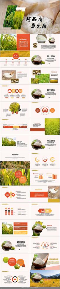 农业水稻大米PPT模板