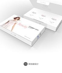 时尚白色简洁包装盒效果图