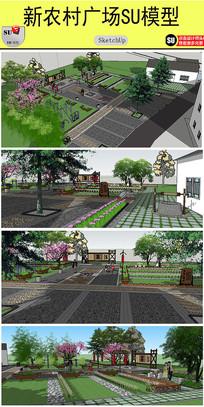 新农村文化广场规划设计模型