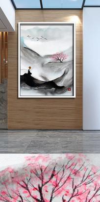 新中式水墨写意山水画