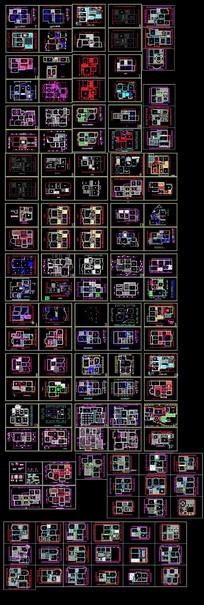 C室内平面户型施工图