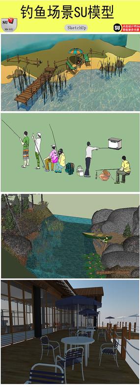 钓鱼场景模型
