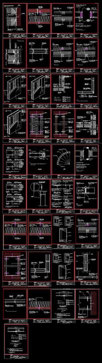 龙骨隔墙节点CAD图集