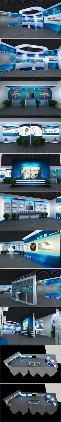 银行展厅沙盘3D模型附效果图