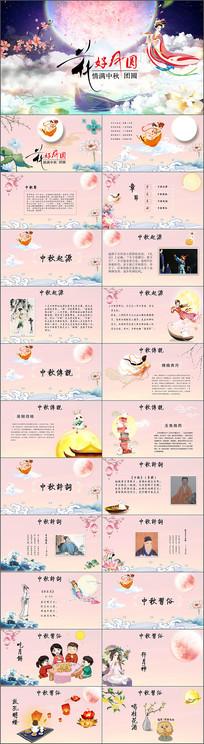 传统节日民俗介绍中秋主题班会PPT