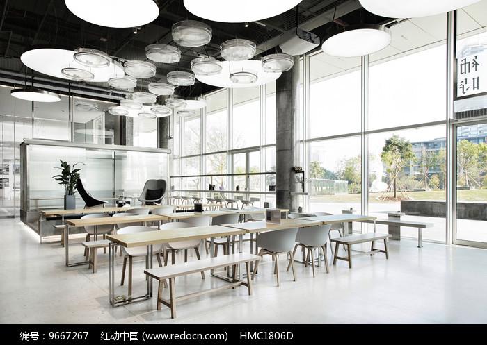 简约艺术咖啡店座位意向图片