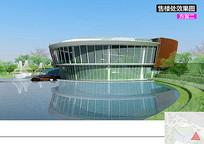 现代滨水建筑景观效果图