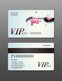 中国风荷花会员卡