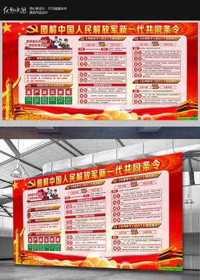 中国人民解放军新一代共同条令宣传栏