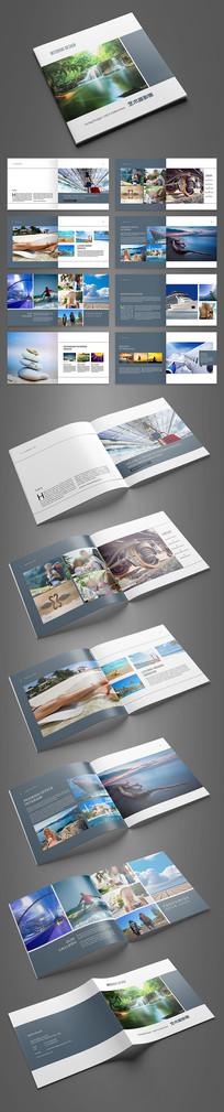 简约时尚旅游摄影画册设计模板