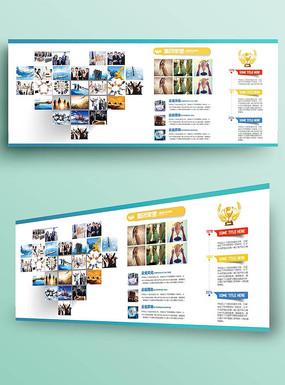 大气企业公司文化墙照片墙展板