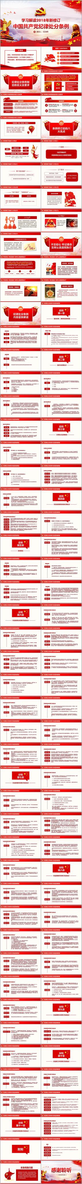 新版中国共产党纪律处分条例PPT ppt