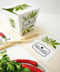 日式食品盒包装样机