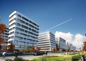 办公建筑透视图