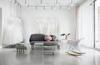 北欧婚纱工作室沙发