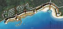 滨水沿岸景观彩平规划