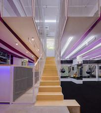 创意健身房木楼梯