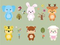 动物卡通插画