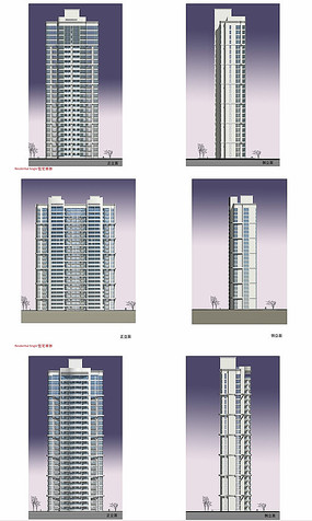 高层住宅单体建筑立面