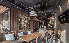 工业风咖啡厅室内意向