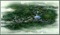 古典园林大鸟瞰图 PSD
