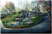 古典园林水景 PSD
