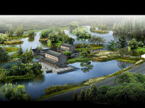 古典园林水景景观