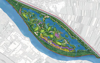 河滩景观方案彩平图