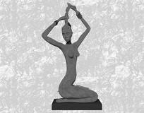 美女雕塑小品